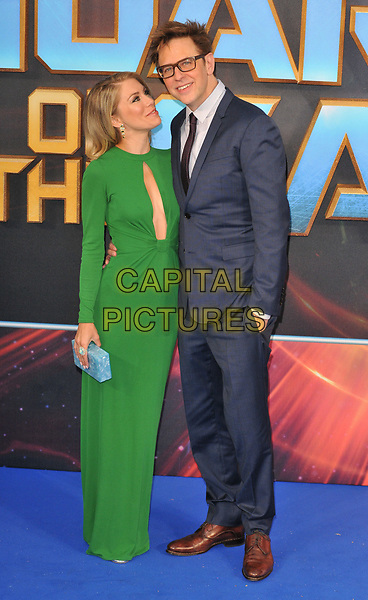 Jennifer Holland and James Gunn at the &quot;Guardians of The Galaxy Vol. 2&quot; European gala film premiere, Hammersmith Apollo (Eventim Apollo), Queen Caroline Street, London, England, UK, on Monday 24 April 2017.<br /> CAP/CAN<br /> &copy;CAN/Capital Pictures