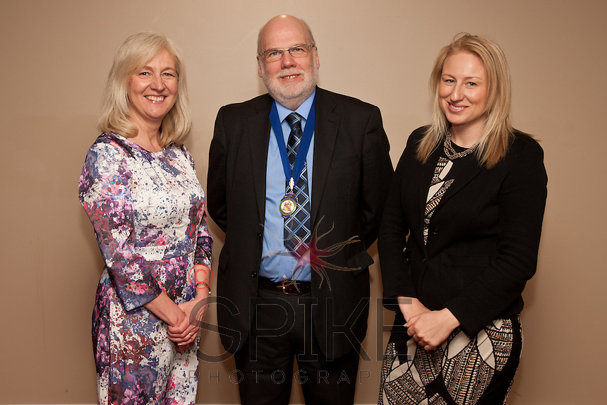 Pictured from left are incoming 2013-14 President Dianne Allen President Steve Potts and guest speaker Lucy Haynes of CBI East Midlands