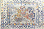 Hunting mosaic, Museo Nacional de Arte Romano, national museum of Roman art, Merida, Extremadura, Spain