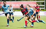 NIJMEGEN -  Mirte Jansen (Huizen)   tijdens  de tweede play-off wedstrijd dames, Nijmegen-Huizen (1-4), voor promotie naar de hoofdklasse.. Huizen promoveert naar de hoofdklasse.  COPYRIGHT KOEN SUYK