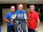Enda and Colm Marry with Declan Breathnach at the Spinathon in aid of St Vincent de Paul<br /> <br /> Photo - Jenny Matthews