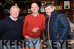 Muiris Ó Fiannachta, Sean Ó Cathain (Ceann Tra) and Tomas Ó Muircheartaigh (Baile na nGall) enjoying the Paidi Ó Sé Football Tournament over the weekend.