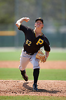 Pittsburgh Pirates Seth McGarry (62) during a minor league Spring Training game against the New York Yankees on March 26, 2016 at Pirate City in Bradenton, Florida.  (Mike Janes/Four Seam Images)