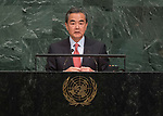 72 General Debate – 20 September <br /> <br /> China FM , Mr Wang Yi