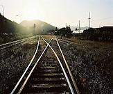 KOS / Kosovo /Mitrovica / 01.07.2009 / Bahnstrecke der Minengeselschaft Trepca bei den Abraumhalden