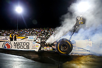 Jul 29, 2016; Sonoma, CA, USA; NHRA top fuel driver Antron Brown during qualifying for the Sonoma Nationals at Sonoma Raceway. Mandatory Credit: Mark J. Rebilas-USA TODAY Sports