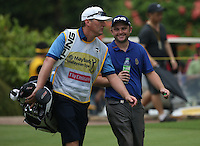 Andy Sullivan (ENG) all smiles despite dropping three shots on the second hole during the Final Round of the 2014 Maybank Malaysian Open at the Kuala Lumpur Golf & Country Club, Kuala Lumpur, Malaysia. Picture:  David Lloyd / www.golffile.ie