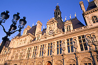 famous Hotel de Ville Paris France colorful graphic