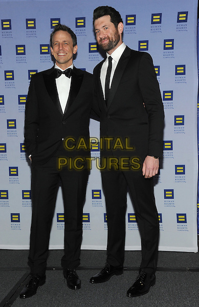 NEW YORK, NY - FEBRUARY 11:  Seth Myers and Billy Eichner  attends the 2017 Human Rights Campaign Greater New York Gala on February 11, 2017 at the Waldorf Astoria in New York City.    <br /> CAP/MPI/JP<br /> &copy;JP/MPI/Capital Pictures