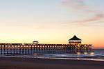 Folly Beach Pier Sunrise South Carolina