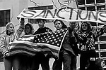 War protesters at the Federal Building in downtown Seattle protesting the US involvement in Persian Gulf January 15 deadline 1991 Seattle Washington State USA