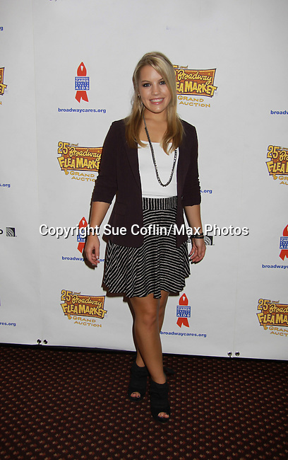 "One Life To Live's Kristen Alderson ""Starr Manning"" attends the 25th Annual Broadway Flea Market & Grand Auction to benefit Broadway Cares/Equity Fights Aids on September 25, 2011 in New York CIty, New York.  (Photo by Sue Coflin/Max Photos)"