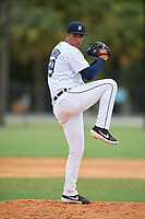 Detroit Tigers pitcher Rodolfo Fajardo (49) during an Instructional League game against the Philadelphia Phillies on September 19, 2019 at Tigertown in Lakeland, Florida.  (Mike Janes/Four Seam Images)