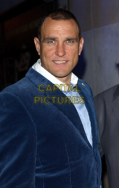 VINNIE JONES & P.H MORIARTY.Vinnie Jones Celebrity Poker Tournament at The Sportsman Casino, London, UK..January 18th, 2006.Ref: BEL.headshot portrait blue.www.capitalpictures.com.sales@capitalpictures.com.©Capital Pictures
