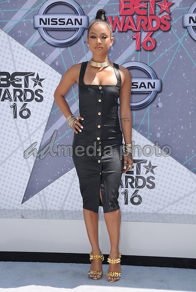 26 June 2016 - Los Angeles. Karrueche Tran . Arrivals for the 2016 BET Awards held at the Microsoft Theater. Photo Credit: Birdie Thompson/AdMedia