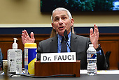 Dr. Anthony Fauci, director of the National Institute for Allergy and Infectious Diseases, testifies during a United States House Energy and Commerce Committee hearing on the Trump Administration's Response to the COVID-19 Pandemic, on Capitol Hill in Washington, DC on Tuesday, June 23, 2020. <br /> Credit: Kevin Dietsch / Pool via CNP