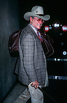 Larry Hagman at the Kennedy Airport in New York City in 1982.
