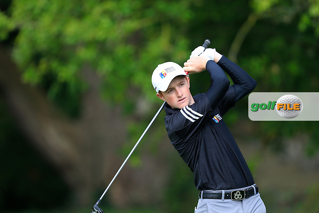 Ronan Mullarney (MU) in the final of the AIG Senior Cup at the AIG Cups &amp; Shields National Finals, Carton House, Maynooth, Co Kildare.<br /> Picture Golffile | Fran Caffrey