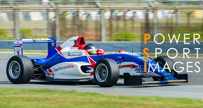 Sean Zheng of China and Cebu Pacific Air by KCMG drives during Formula Masters China Series as part of the 2015 Pan Delta Super Racing Festival at Zhuhai International Circuit on September 18, 2015 in Zhuhai, China.  Photo by Moses Ng/ Power Sport Images