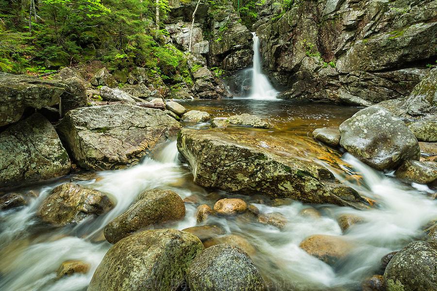Rocky Glen falls, Franconia Notch State Park, White Mountains, New Hampshire