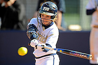 13 February 2010:  FIU's Beth Peller (9) bats as the FIU Golden Panthers defeated the Southern Illinois Salukis, 10-6, at the University Park Stadium in Miami, Florida.
