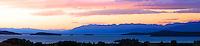 Flathead Lake overlook at sunset.