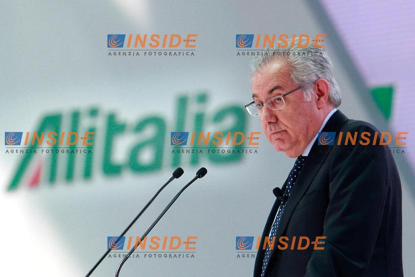 Roberto Colaninno .Roma 19/06/2012 Aeroporto di Fiumicino. Alitalia Day 2012..Photo Samantha Zucchi Insidefoto