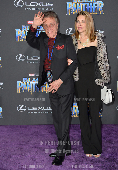 Frankie Valli &amp; Jacqueline Jacobs at the world premiere for &quot;Black Panther&quot; at the Dolby Theatre, Hollywood, USA 29 Jan. 2018<br /> Picture: Paul Smith/Featureflash/SilverHub 0208 004 5359 sales@silverhubmedia.com