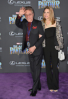"Frankie Valli & Jacqueline Jacobs at the world premiere for ""Black Panther"" at the Dolby Theatre, Hollywood, USA 29 Jan. 2018<br /> Picture: Paul Smith/Featureflash/SilverHub 0208 004 5359 sales@silverhubmedia.com"