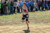Woodland's Landon Thomsen sprints to a 68th-place finish in the Class 2 race at the 2015 MSHSAA State Cross Country Championships.