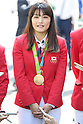 Kaori Icho (JPN),<br /> OCTOBER 7, 2016 :<br /> Japanese medalists of Rio 2016 Olympic and Paralympic Games wave to spectators during a parade from Ginza to Nihonbashi, Tokyo, Japan.<br /> (Photo by Shingo Ito/AFLO)