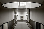 Shaker Village at Pleasant Hill, Kentucky:<br /> Upper hallway with skylight in the trustee house in the Shaker Village