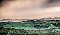 Hills of Tuscany as storm approaches. (Travel by Travel Photographer Matt Considine)