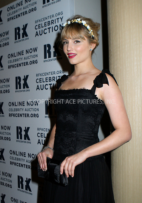 WWW.ACEPIXS.COM....December 3 2012, New York City....Dianna Agron arriving at the Robert F. Kennedy Center for Justice and Human Rights 2012 Ripple of Hope Awards Dinner at the Marriot Marquis on December 03, 2012 in New York City ....By Line: Nancy Rivera/ACE Pictures......ACE Pictures, Inc...tel: 646 769 0430..Email: info@acepixs.com..www.acepixs.com