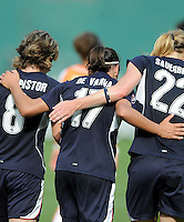 Washington Freedom forward  Lisa De Vanna (17) celebrates her goal with her teammates.  Washington Freedom defeated Skyblue FC 2-1 at RFK Stadium, Saturday May 23, 2009.