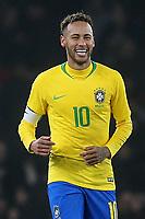 Neymar Jr celebrates scoring Brazil's opening goal from the penalty spot during Brazil vs Uruguay, International Friendly Match Football at the Emirates Stadium on 16th November 2018