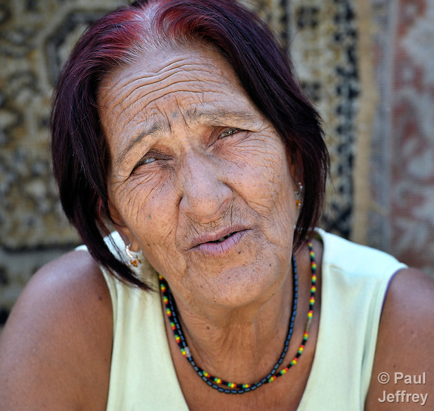 A woman in Suto Orizari, Macedonia. The mostly Roma community, located just outside Skopje, is Europe's largest Roma settlement. .