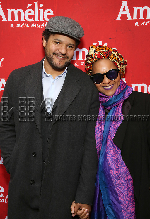 Brandon Dirden and Crystal Dickinson attends the Broadway Opening Night performance of 'Amelie' at the Walter Kerr Theatre on April 3, 2017 in New York City