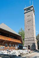 Germany, Baden-Wurttemberg, Black Forest, Oberharmersbach: view tower at Brandenkopf mountain | Deutschland, Baden-Wuerttemberg, Schwarzwald, Oberharmersbach im Ortenaukreis: Aussichtsturm auf dem Brandenkopf, der hoechsten Erhebung des Mittleren Schwarzwaldes