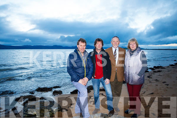 The Fenit Development committee behind the Restore Fenit Diving Boards Campaign: L to R: Mike O'Neill, John Edwards, Billy Ryle and Nanette Moore.