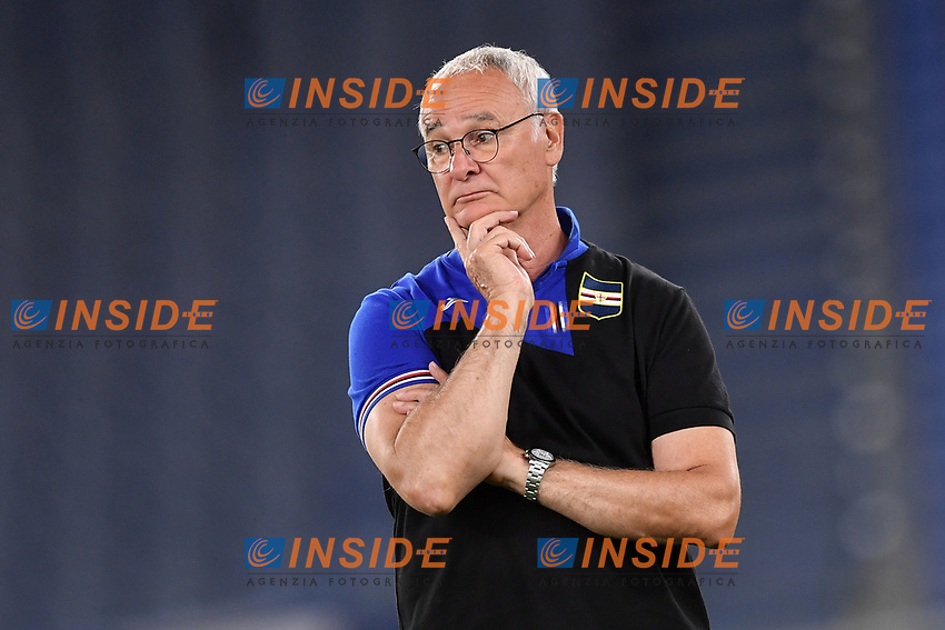 Claudio Ranieri, Sampdoria coach,<br /> during the Serie A football match between AS Roma and UC Sampdoria at Olimpico stadium in Rome ( Italy ), June 24th, 2020. Play resumes behind closed doors following the outbreak of the coronavirus disease. <br /> Photo Andrea Staccioli / Insidefoto