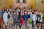 Confirmation recipients from Cullina National School, pictured with Bishop Bill Murphy after their confirmations in Beaufort on Thursday......