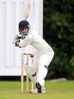 Prashanth Patel bats for Harrow Town during the ECB Middlesex Division Three game between Highgate and Harrow Town at Park Road, Crouch End on Saturday May 24, 2014