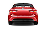 Straight rear view of 2018 KIA Optima EX-Hybrid 4 Door Sedan Rear View  stock images