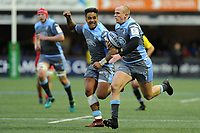 Dan Fish of Cardiff Blues scores his sides second try during the Heineken Champions Cup match between Cardiff Blues and Saracens at Cardiff Arms Park in Cardiff, Wales. Saturday 15 December 2018