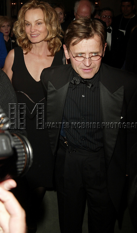 Jessica Lange and Mikhail Baryshnikov.Attending the STELLA by STARLIGHT black tie gala .celebrating the legacy of Stella Adler and the presentation of the 2004 Stella Adler Studio of Acting Awards. The evening was held at the Grand Ballroom in the Pierre Hotel in New York City..November 8, 2004.© Walter McBride /