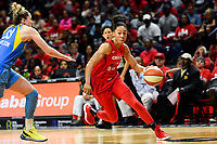 Washington, DC - September 8, 2019: Washington Mystics forward Aerial Powers (23) drive to the basket during game between the Chicago Sky and Washington Mystics at the Entertainment and Sports Arena in Washington, DC. The Mystics locked up the #1 seed in the Playoffs by defeating the Sky 100-86. (Photo by Phil Peters/Media Images International)
