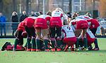 TILBURG  - hockey-  teamhuddle MOP,  voor  de wedstrijd Were Di-MOP (1-1) in de promotieklasse hockey dames. COPYRIGHT KOEN SUYK