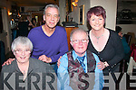 BIRTHDAY CELEBRATION: PJ Ryan, Marian Pk, Tralee (front) who dined in Cassidy's restaurant, Tralee for his birthday last Friday night with his wife Mary and at back l-r: Phil Murphy and Martina Ryan-Egan.