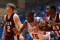 SAN ANTONIO, TX - JANUARY 14, 2006: The University of Louisiana Monroe Warhawks vs. The University of Texas at San Antonio Roadrunners Men's Basketball at the UTSA Convocation Center. (Photo by Jeff Huehn)
